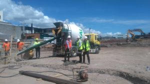 First concrete poured on LIVING CITY site