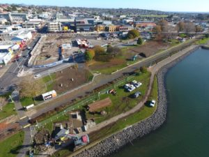 Waterfront Park begins to take shape
